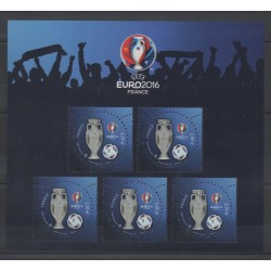 France - Blocks and sheets - 2016 - No F5050A - Bloc Euro UEFA avec vernis 3D - Football
