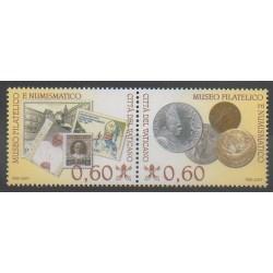 Vatican - 2007 - No 1436/1437 - Monnaies, billets ou médailles - Timbres sur timbres