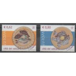 Vatican - 2005 - No 1378/1379 - Gastronomie - Peinture - Europa