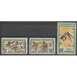 Centrafricaine (République) - 1962 - No 20/21 - PA6 - Sports divers