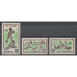 Tchad - 1962 - No 80/81 - PA8 - Sports divers