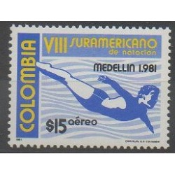 Colombia - 1981 - Nb PA670 - Various sports