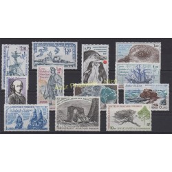 Stamps - French Southern and Antarctic Territories - Complete year - 1979 - Nb 79/85 et PA56/PA60