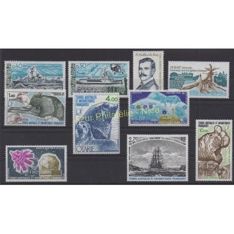 Timbres - Terres Australes et Antarctiques Françaises - Année complète - 1978 - No 74/78 et PA51/PA55