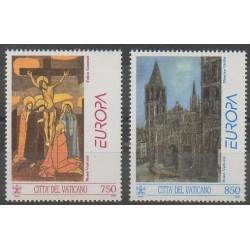 Vatican - 1993 - No 959/960 - Peinture - Églises - Europa
