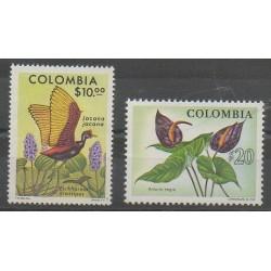 Colombia - 1977 - Nb 709/710 - Birds - Flowers
