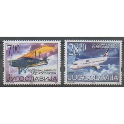 Yougoslavie - 2002 - No 2923/2924 - Aviation