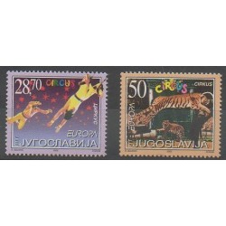 Yougoslavie - 2002 - No 2921/2922 - Cirque - Europa