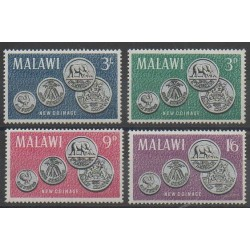 Malawi - 1965 - No 22/25 - Monnaies, billets ou médailles