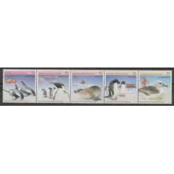 Australie - territoire antarctique - 1988 - No 79/83 - Polaire - Animaux marins - Oiseaux