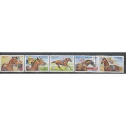 Australia - 2002 - Nb 2071/2075 - Horses