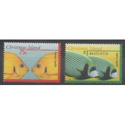 Christmas (Island) - 1995 - Nb 421/422 - Sea animals