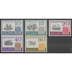Iceland - 1973 - Nb 426/430 - Stamps on stamps
