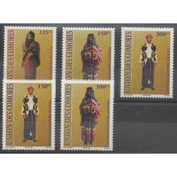Comores - 2002 - No 1164/1168 - Costumes - Uniformes - Mode
