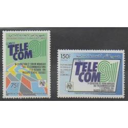 Comores - 1990 - No 512A/512B - Télécommunications