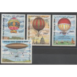 Comoros - 1983 - Nb PA193/PA196 - Hot-air balloons - Airships