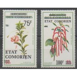 Comoros - 1975 - Nb PA75 - PA80 - Flowers