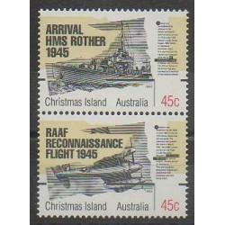 Christmas (Iles) - 1995 - No 419/420 - Seconde Guerre Mondiale
