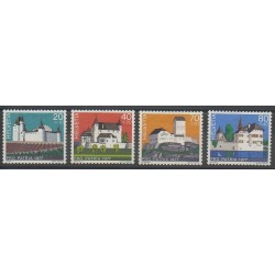 Swiss - 1977 - Nb 1026/1029 - Castles