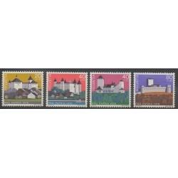 Swiss - 1976 - Nb 1005/1008 - Castles