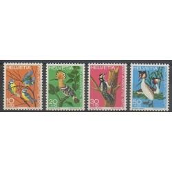Suisse - 1970 - No 868/871 - Oiseaux