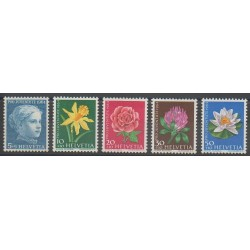 Swiss - 1964 - Nb 738/742 - Flowers