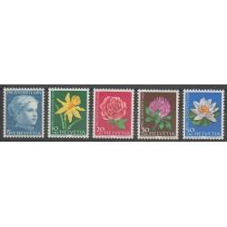 Suisse - 1964 - No 738/742 - Fleurs