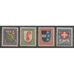 Swiss - 1926 - Nb 222/225 - Coats of arms - Mint hinged