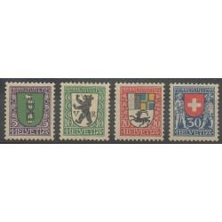 Suisse - 1925 - No 218/221 - Armoiries - Neuf avec charnière