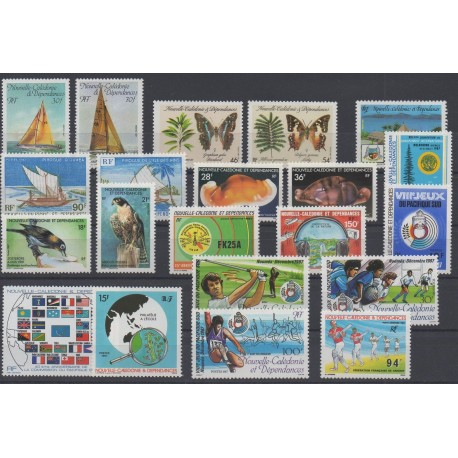 New Caledonia - Complete year - 1987 - Nb 531/548 et PA254/PA256