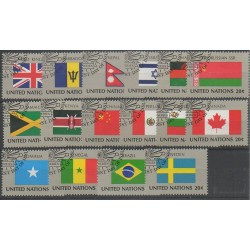 United Nations (UN - New York) - 1983 - Nb 390/405 - Flags - Used