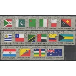 Nations Unies (ONU - New-York) - 1984 - No 416/431 - Drapeaux - Oblitérés
