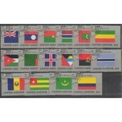 Nations Unies (ONU - New-York) - 1986 - No 467/482 - Drapeaux - Oblitérés