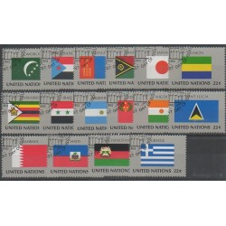 United Nations (UN - New York) - 1987 - Nb 492/507 - Flags - Used