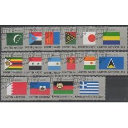 Nations Unies (ONU - New-York) - 1987 - No 492/507 - Drapeaux - Oblitérés
