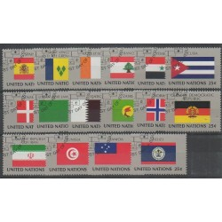 United Nations (UN - New York) - 1988 - Nb 521/536 - Flags - Used