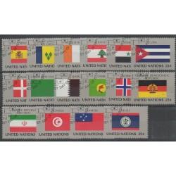 Nations Unies (ONU - New-York) - 1988 - No 521/536 - Drapeaux - Oblitérés