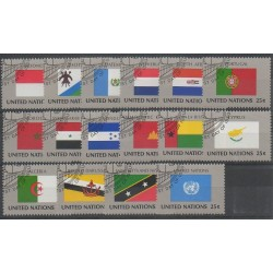 United Nations (UN - New York) - 1989 - Nb 547/562 - Flags - Used