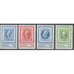 Suède - 1983 - No 1221/1224 - Timbres sur timbres - Exposition