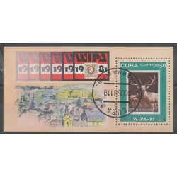 Cuba - 1981 - Nb BF66 - Stamps on stamps - Exhibition - Used
