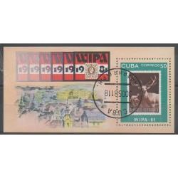 Cuba - 1981 - No BF66 - Timbres sur timbres - Exposition - Oblitéré