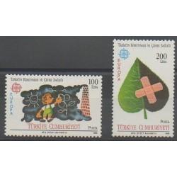 Turquie - 1986 - No 2494/2495 - Environnement - Europa