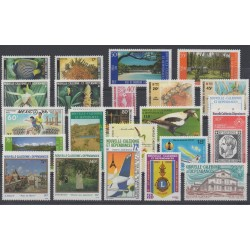 New Caledonia - Complete year - 1986 - Nb 512/530 et PA250/PA253