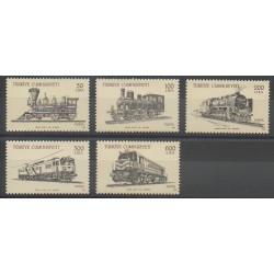 Turquie - 1988 - No 2563/2567 - Chemins de fer