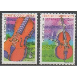 Turquie - 2002 - No 3050/3051 - Musique