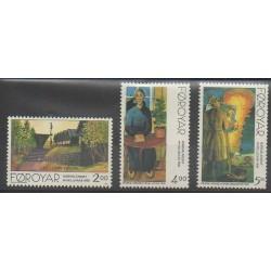 Féroé (Iles) - 1995 - No 276/278 - Peinture