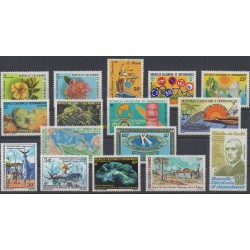 New Caledonia - Complete year - 1980 - Nb 436/442 et PA201/209