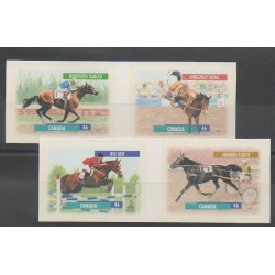 Canada - 1999 - No 1693/1696 - Chevaux - Sports divers