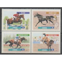 Canada - 1999 - No 1663/1666 - Chevaux - Sports divers