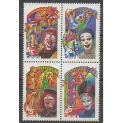 Canada - 1998 - Nb 1611/1614 - Circus
